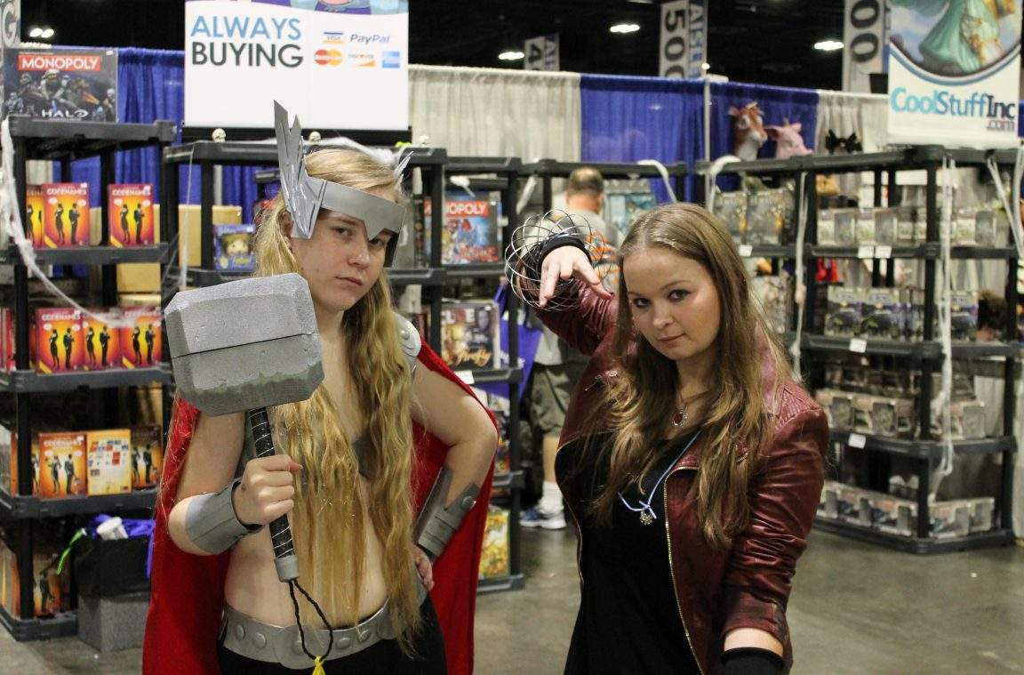 Thor and Scarlet Witch cosplay