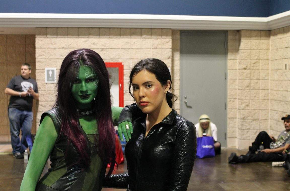 Gamora and Black Widow cosplay