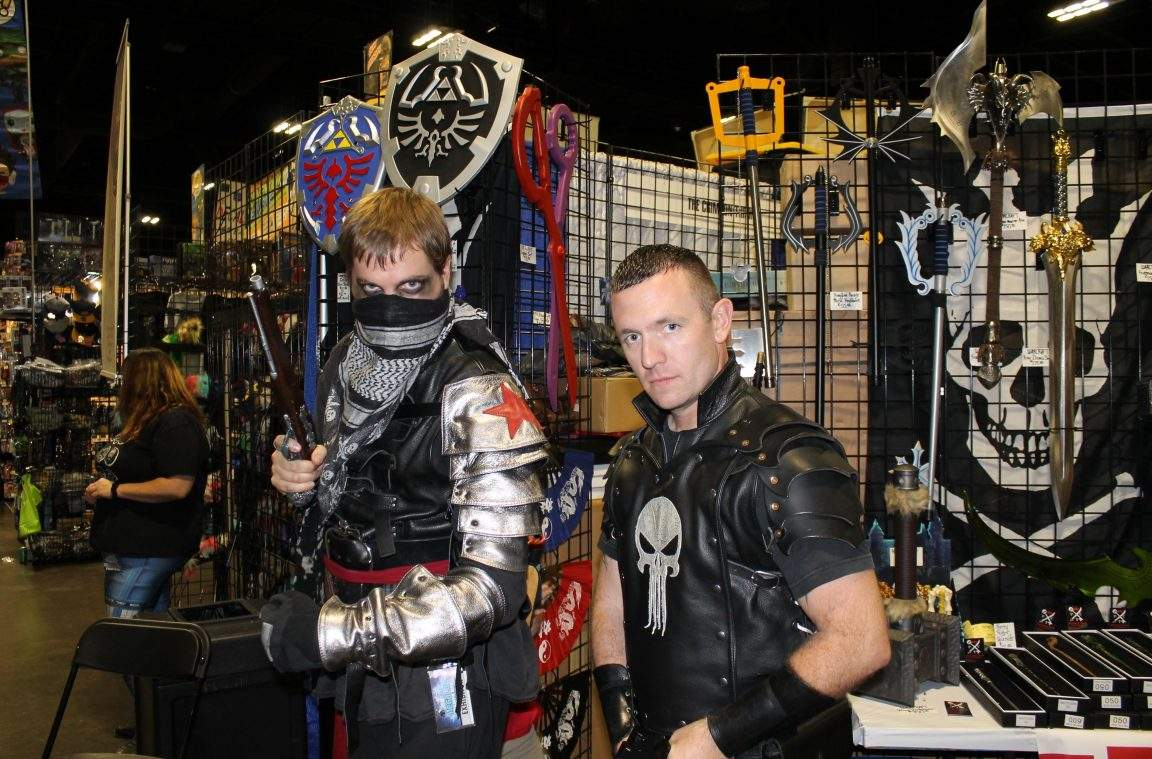 Witcher Bucky and Punisher cosplay