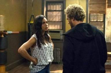 MARVEL'S IRON FIST - PRODUCTION STILLS - 018  DESCRIPTION Marvel's Iron Fist  SEASON Season 1  EPISODE 5  PHOTO CREDIT David Giesbrecht/Netflix  PICTURED Rosario Dawson, Finn Jones
